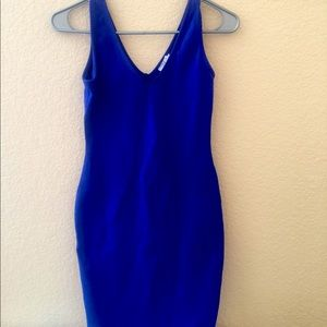 Blue mini tank dress